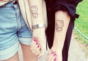 hello-kitty-friendship-tattoo-for-girls