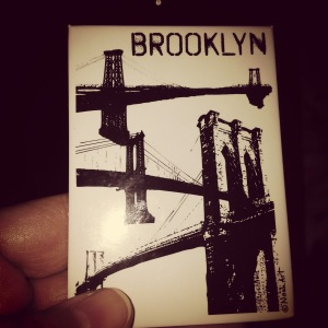 My souvenir from New York. Andy and his partner walked across the Brooklyn Bridge.